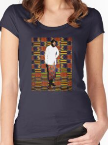 Mos Def in Kente Cloth Women's Fitted Scoop T-Shirt