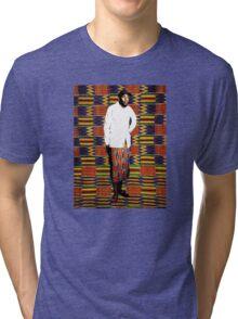Mos Def in Kente Cloth Tri-blend T-Shirt