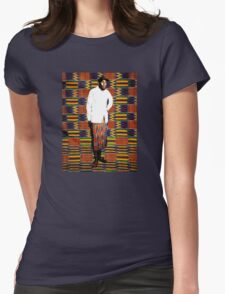 Mos Def in Kente Cloth Womens Fitted T-Shirt