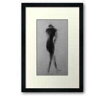 Female Nude Shadow Figure Framed Print