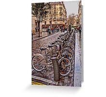 Paris Wheels for Rent Greeting Card
