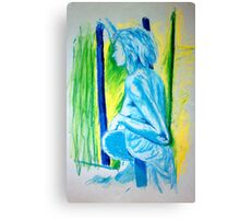 """""""Lady Cool"""" - Nude Female Sitting on Chair Canvas Print"""
