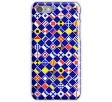 Checkered Nautical Signal Flags  iPhone Case/Skin
