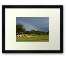 """Forget About the """"Pot of Gold"""" ~ Give me the """"Hole in One"""" Framed Print"""