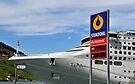 P&O cruise ship Oceana docked in Olden, Norway.  When you've got to fill up, you just have to stop where you can... by David Carton