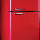Retro Red Refrigerator  by adrienne75