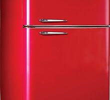 Retro Red Refrigerator  by adrienne75