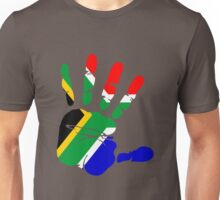 Flag of South Africa Handprint Unisex T-Shirt