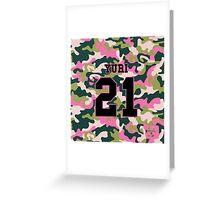 Girls' Generation (SNSD) YURI 'PINK ARMY' Greeting Card