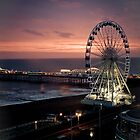 Brighton Nightscape by Erika  Szostak