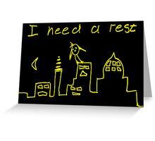 Tired Birdy Men's T-Shirt Greeting Card