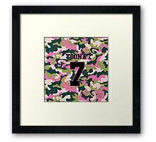 Girls' Generation (SNSD) YOONA 'PINK ARMY' Framed Print