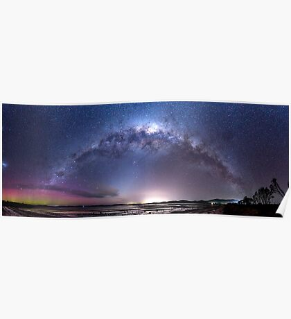 Aurora Australis and Milky Way Poster