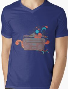 Retro Music Mens V-Neck T-Shirt