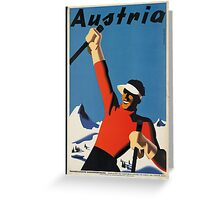 Vintage poster - Skiing Austria Greeting Card