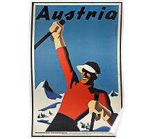 Vintage poster - Skiing Austria Poster