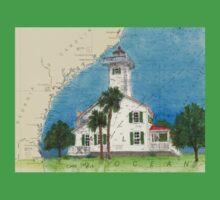 Haig Pt Lighthouse SC Nautical Chart Cathy Peek Baby Tee