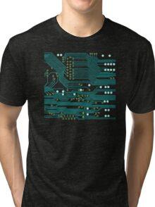 Dark Circuit Board Tri-blend T-Shirt