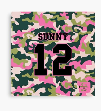 Girls' Generation (SNSD) SUNNY 'PINK ARMY' Canvas Print