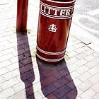 Litter Bin And Lampost by Jazzdenski