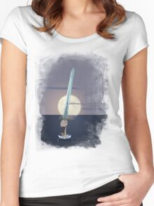 Excalibur - Lady of the Lake Women's Fitted Scoop T-Shirt