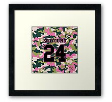 Girls' Generation (SNSD) SOOYOUNG 'PINK ARMY' Framed Print