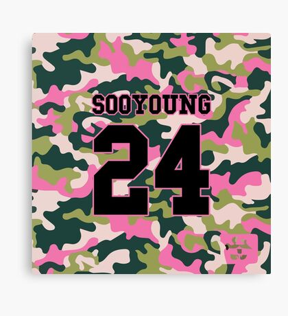 Girls' Generation (SNSD) SOOYOUNG 'PINK ARMY' Canvas Print