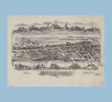 Panoramic Maps Wernersville Pennsylvania One Piece - Short Sleeve