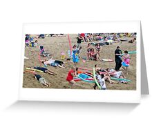 Noodle War at Surf 6 Greeting Card