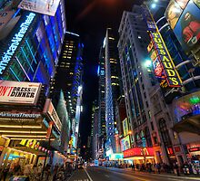 42nd Street - NYC by Yhun Suarez