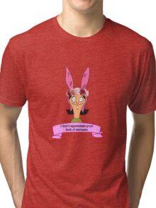 Louise Belcher Bobs Burgers Flower Crown Quote Tri-blend T-Shirt