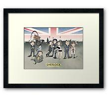 Sherlock group tensions Framed Print
