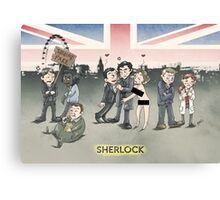 Sherlock group tensions Canvas Print