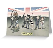 Sherlock group tensions Greeting Card