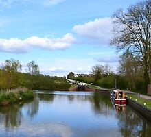 Caen Hill Locks, Kennet & Avon Canal by Paula J James