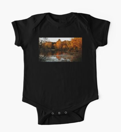 Fall Trees Lake Landscape One Piece - Short Sleeve