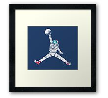 Space Dunk Framed Print