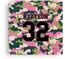 Girls' Generation (SNSD) HYOYEON 'PINK ARMY' Canvas Print