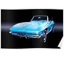 1964 Corvette Stingray Convertible Poster