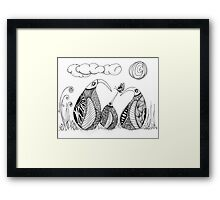 Wee Three, Pleased to Meet You Framed Print