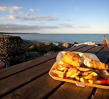 Fish 'n' Chips by the beach by Rob Hawkins