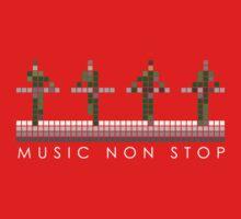 PIXEL8   Music Non Stop   Kraftwerk Green Kids Clothes