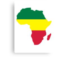Africa map reggae Canvas Print