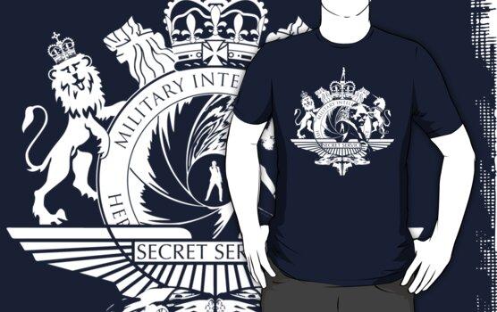 50th Anniversary Secret Agent Tee_WHITE by bengrimshaw