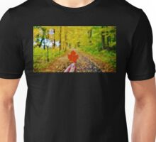Holding Up a Red Maple Leaf Unisex T-Shirt