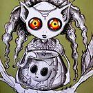 Leema and Pet by OutsiderArtist