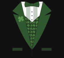 Irish Green Tuxedo T-Shirt One Piece - Long Sleeve