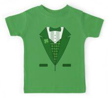 Irish Green Tuxedo T-Shirt Kids Tee