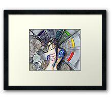 Modern woman Framed Print