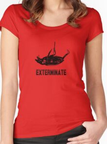 Exterminate T-shirt/Hoodie black Women's Fitted Scoop T-Shirt